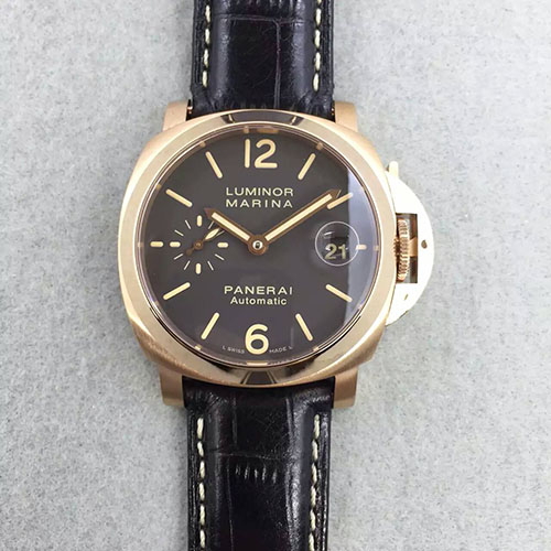 沛納海 Panerai Luminor Marina小手系列pam048金殼 搭載7750自動機芯-rhid-23
