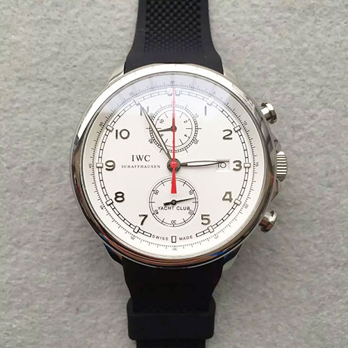 "萬國 IWC V2版 全新葡萄牙 Yacht Club Chronograph 航海精英計時腕錶""海洋勇士""特別版 搭載7750計時機芯-rhid-111026"