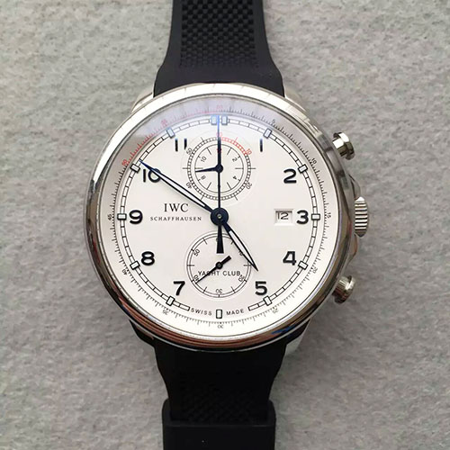 "萬國 IWC V2版 全新葡萄牙 Yacht Club Chronograph 航海精英計時腕錶""海洋勇士""特別版 搭載7750計時機芯-rhid-111024"