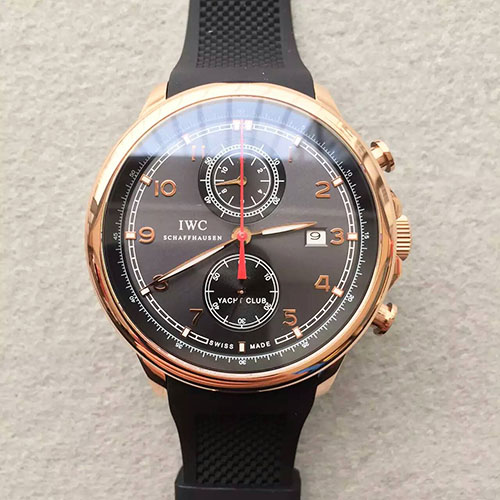 "萬國 IWC V2版 全新葡萄牙 Yacht Club Chronograph 航海精英計時腕錶""海洋勇士""特別版 搭載7750計時機芯-rhid-111028"