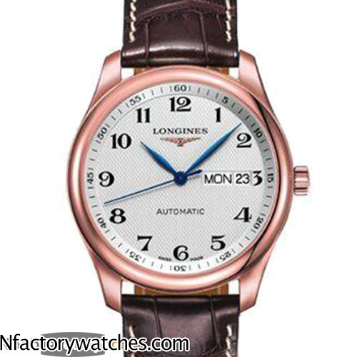 浪琴Longines Master Collection 名匠 L2.755.8.78.3 316L不鏽鋼 電鍍18k玫瑰金-rhid-118188
