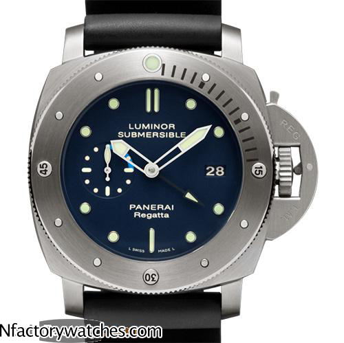 沛納海Panerai LUMINOR SUBMERSIBLE 1950 REGATTA 3 DAYS GTM AUTOMATIC TITANIO Pam00371 Pam371