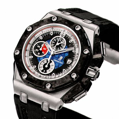 愛彼AP ROYAL OAK OFFSHORE 皇家橡樹離岸型 Grand Prix 26290PO.OO.A001VE.01 黑色小牛皮錶帶